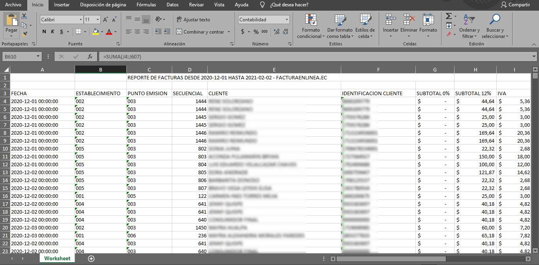 reportes facturacion electronica